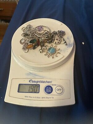 $ CDN18.15 • Buy Sterling Silver And Stones Lot Wearable 1.9oz 53.9g Ounces Grams