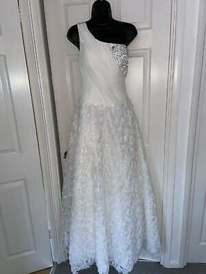 $ CDN1.70 • Buy White Wedding Maxi Princess Dress  Crafted Size 12-14