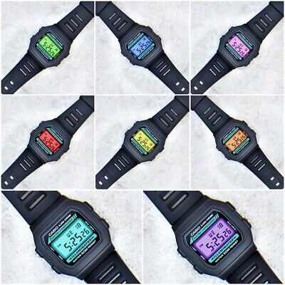 $ CDN68.17 • Buy Casio Classic Illuminator Watch With Colour Screen Mod - 8 Different Colours