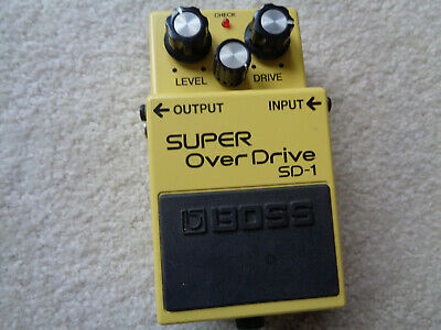 $ CDN120.98 • Buy Boss SD-1 Super Overdrive Distortion Guitar Effect Pedal Made In Japan