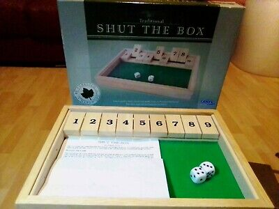 £8 • Buy Gibsons Games Traditional Shut The Box Wooden Dice Game VGC