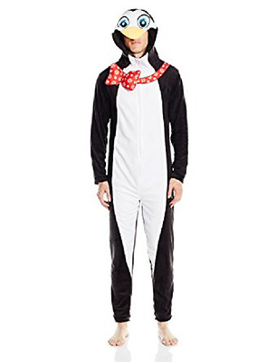 $16.98 • Buy $155 Briefly Stated Pajamas Penguin One Piece Footie Lounge Sleepwear Size M