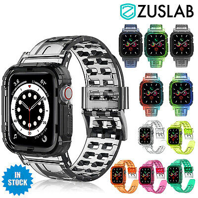 AU11.95 • Buy For Apple Watch IWatch Band SE 6 5 4 3 2 1 Bumper Case Shockproof 44 42 40 38mm
