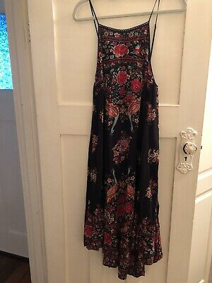 AU399 • Buy Spell Designs Hotel Paradiso Strappy Dress Jet Size M
