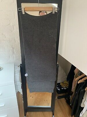 £5 • Buy New Look Cable Knit Charcoal Grey Scarf