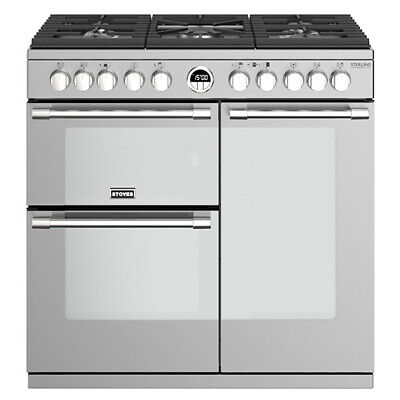 £1350.96 • Buy Stoves Sterling Deluxe S900DF Stainless Steel 90cm Dual Fuel Range Cooker
