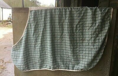 £9.99 • Buy GREEN And CREAM Checked Cotton SUMMER SHEET Rug 4'6