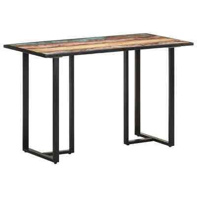 AU249.57 • Buy VidaXL Dining Table 120 Cm Solid Reclaimed Wood Multicolour