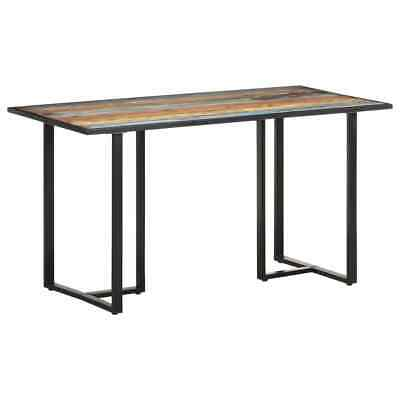 AU300.41 • Buy VidaXL Dining Table 140 Cm Solid Reclaimed Wood Multicolour