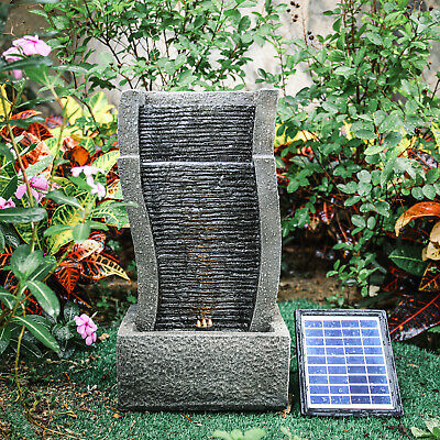 £59.95 • Buy Garden Patio Water Fountain Solar/Electric LED Water Feature Cascading Statues