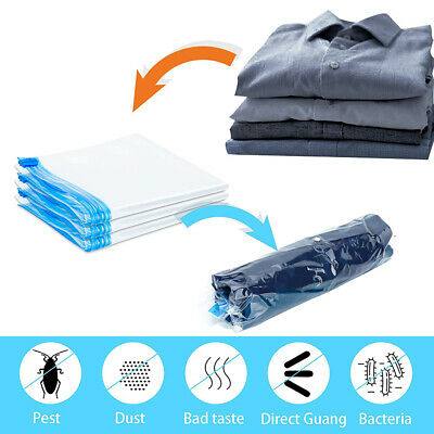 £7.35 • Buy 6X Travel Roll Up Vacuum Reusable Sealable Storage Bags Compress Luggage 2 Size