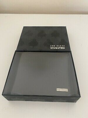 £30 • Buy TED BAKER InvesTED Black & Green Contrast Edge Leather Internal BiFold Wallet