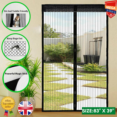£6.99 • Buy Magic Curtain Door Mesh Magnetic Fastening Mosquito Fly Bug Insect Net Screen UK