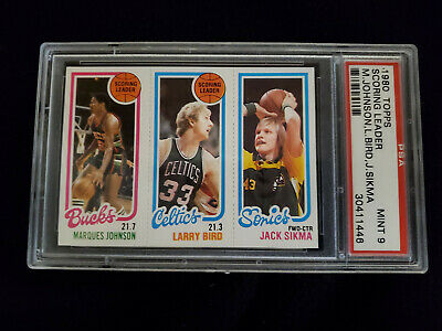 $329.95 • Buy 1980 Topps Basketball M. Johnson,larry Bird Rookie(rc) And Sikma Psa 9 Mint!!!