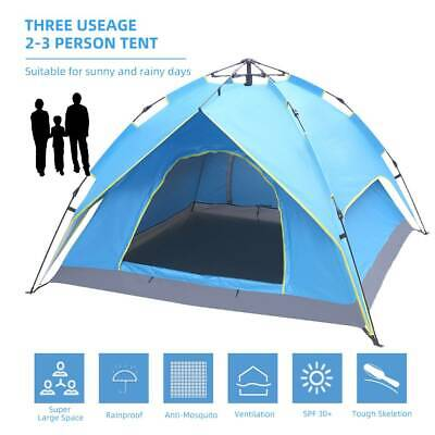 £29.95 • Buy Large 2-3 Man Person Automatic Pop Up Tent Double Layer Festival Camping Fishing