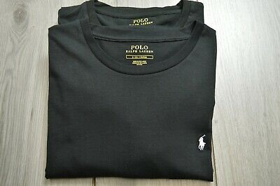 £24.99 • Buy Mens Polo Ralph Lauren Black Long Sleeved 2 Pack Crew Neck Lounge T Shirts Small