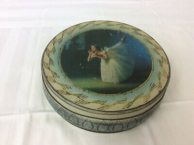£3 • Buy W. & R. JACOB & CO. (L-POOL) LTD Round Biscuit Tin With Ballerina Picture