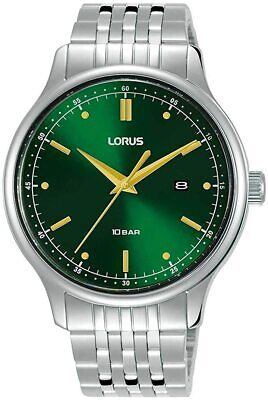 £39.99 • Buy Lorus Mens Watch With Green Sunray Dial And Stainless Steel Strap RH907NX9