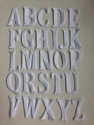 £4 • Buy 26 Iron On Felt Alphabet Letters Available In Various Colours