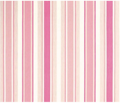 £15 • Buy Laura Ashley Pink/Cerise Awning Stripe Fabric By The Metre