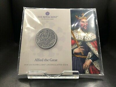 £14.17 • Buy 2021 Brilliant Uncirculated Alfred The Great UK £5 Five Pounds