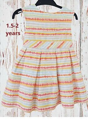£4.99 • Buy Cute Baby Girl Dress Multi-coloured 1.5 -2 Years Old, Party, Occasion Wear