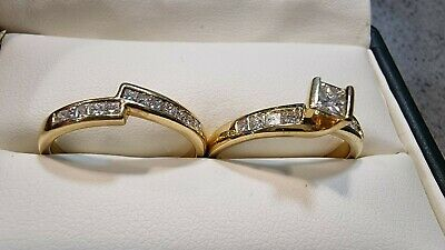 AU1000 • Buy Michael Hill18ct Gold Diamond - Engagement And Wedding Ring Set