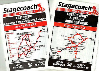 £4.99 • Buy Stagecoach Red & White Bus Timetable Leaflets X 10
