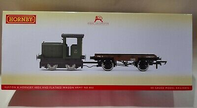 £75 • Buy Hornby R3706 Ruston And Hornsby 48DS +flat Wagon In Army Livery- NEW!!