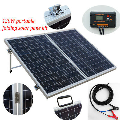 £130.99 • Buy ECO 120W Folding Solar Panel 12V Battery Charger Portable Camping Trailer RV