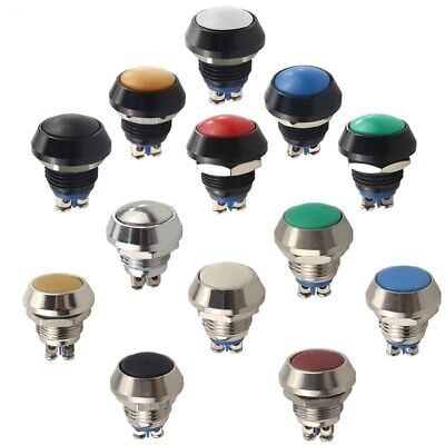 £2.50 • Buy 12mm Momentary ON/OFF IP65 IK08 Push Button Round Switch Waterproof 6 Colours