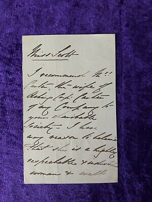 £99.99 • Buy 1871 Prince Arthur, Son Of Queen Victoria Hand Signed Letter