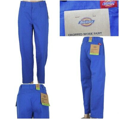 £21.73 • Buy NWT DICKIES Junior Women's Blue Relaxed Fit High Rise Cropped Work Pants NEW