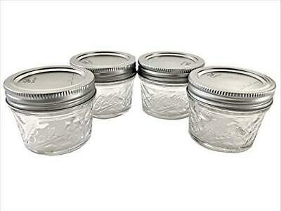 $13.49 • Buy Mason Ball Jelly Jars-4 Oz. Each - Quilted Crystal Style-Set Of 4