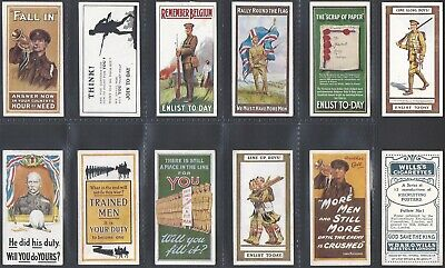 £99.99 • Buy Wills-full Set- Recruiting Posters 1915 (12 Cards) - All Scanned