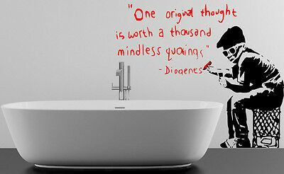£19.99 • Buy Banksy One Original Thought Is Worth Wall Sticker Vinyl Decal 130cm X 110cm UK