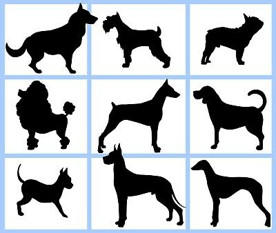 £3.99 • Buy Multi-listing Wall Sticker Dog Breeds Many Dogs Decor Car Laptop Removable Decal