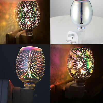 £10.49 • Buy 3D Electric Plug In LED Aroma Diffuser Lamps Wax Melt Oil Burner Wax Warmer Gift