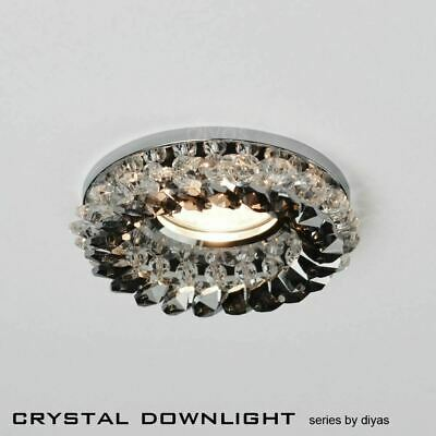 £28.40 • Buy Diyas IL30805SM Crystal Cluster Downlight Round Clear/Smoked