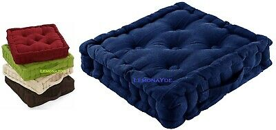 £12.99 • Buy Chunky Garden Dining Office Arm Chair Booster Cushion Thick Seat Pad Cotton Navy