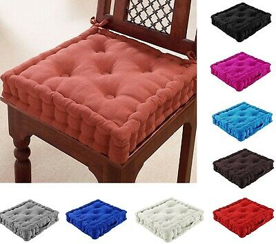 £12.99 • Buy Chunky Garden Dining Office Armchair Booster Cushion Thick Seat Pad Cotton Blush