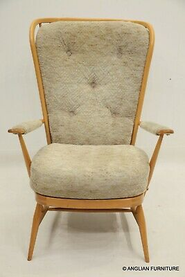 £437 • Buy Ercol Evergreen Armchair Moquette Upholstery Light/Blonde FREE UK Delivery