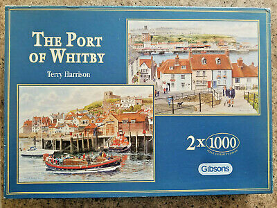 £6.99 • Buy Gibson 2 X 1000 Piece Jigsaws - The Port Of Whitby By Terry Harrison