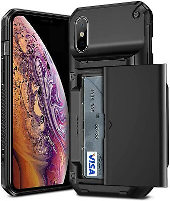 AU33.12 • Buy Iphone Xs / Iphone X Shockproof Phone Case Armour Cover With Card Holder, Black