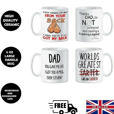 £5.05 • Buy Day Fathers Gift Mug Birthday Personalised Daddy Dad Cup Him Christmas Funny Uk