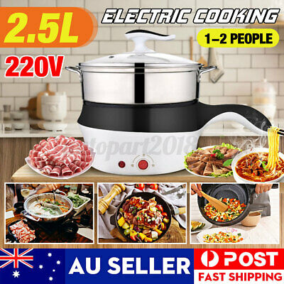 AU28.98 • Buy Portable Electric Lunch Box 2 Layer Steamer Cooker Pot Cooking/Heating Rice AU
