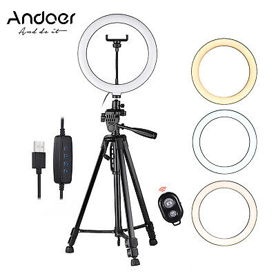 AU57.95 • Buy 18   LED Ring Light Dimmable With Tripod Stand Phone Holder And Selfie Makeup