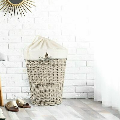 £19.99 • Buy Wickerfield Wicker Laundry Basket  With Cotton Liner Drawstring