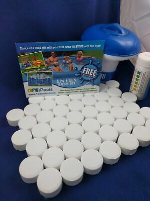 £19.99 • Buy Swimming Pool Starter Chemical Chlorine Tablets Treatment Kit For Clear Water
