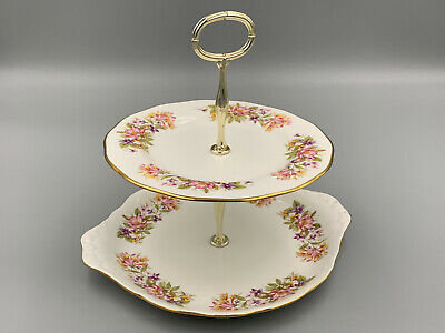 £29.74 • Buy Colclough Wayside 8581 - 2 Tier Cake Stand.